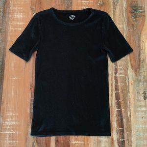 J Crew Perfect Fit Crew Neck Black Cotton Top M